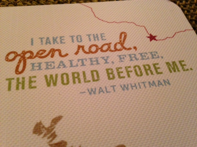 Whitman quotation