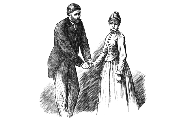 Meg March and John Brooke